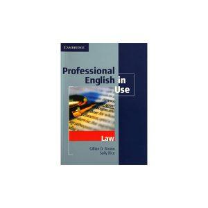 کتاب Professional English in Use Law