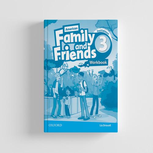 کتاب American Family and Friends 2nd edition 3 workbook